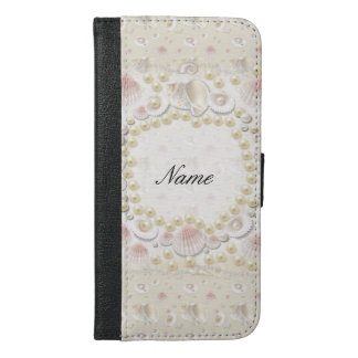 Personalized Seashells and Pearls iPhone 6/6s Plus Wallet Case