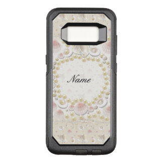 Personalized Seashells and Pearls OtterBox Commuter Samsung Galaxy S8 Case
