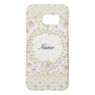 Personalized Seashells and Pearls Samsung Galaxy S7 Case
