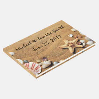 Personalized Seashells on the Beach Wedding Guest Book