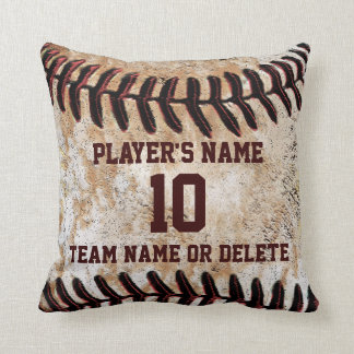 Personalized Senior Baseball Player Gift Ideas Throw Pillow