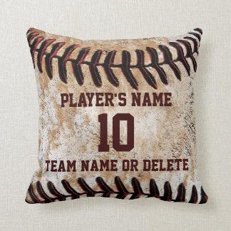 Personalized Senior Baseball Player Gift Ideas Throw Pillow