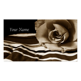 Personalized Sepia Rose Business Cards
