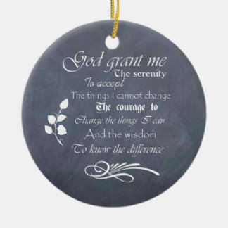 Personalized Serenity Prayer Chalkboard Gifts Ceramic Ornament