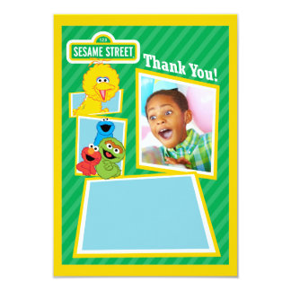 "Personalized Sesame Street Pals Birthday 3.5"" X 5"" Invitation Card"