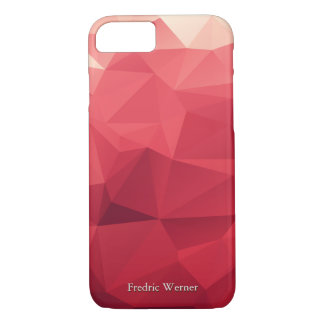 Personalized Shades of Red Geometric iPhone 8/7 Case
