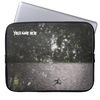 Personalized Shadow of the Orb Weaver Laptop Sleeve
