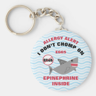 Personalized Shark Egg Allergy Epinephrine Kids Keychain