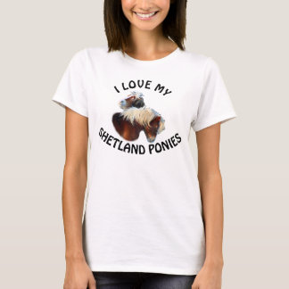 Personalized shetland pony T-Shirt