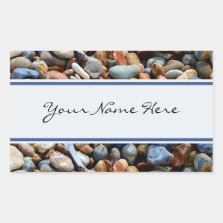 Personalized Shiny Beach Pebbles Sticker