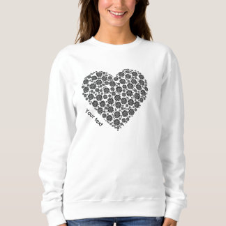 Personalized shirt black and white heart design