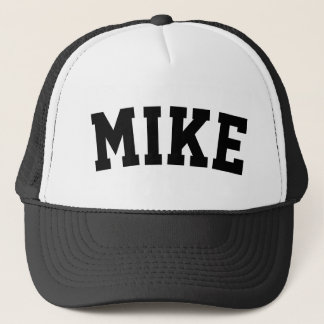 Personalized Short Name Black Trucker Hat