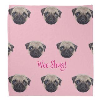 Personalized Shug The Scottish Pug Bandana