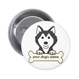 Personalized Siberian Husky 2 Inch Round Button