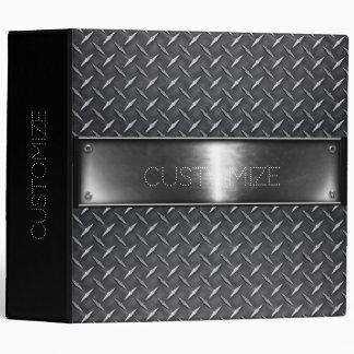 Personalized Silver Steel Binder