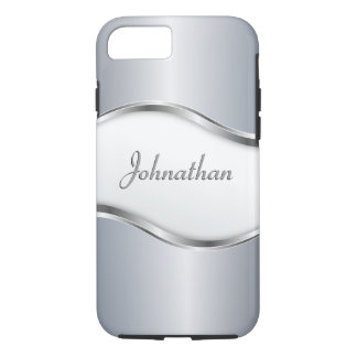 Personalized Silver Wave iPhone 8/7 Case