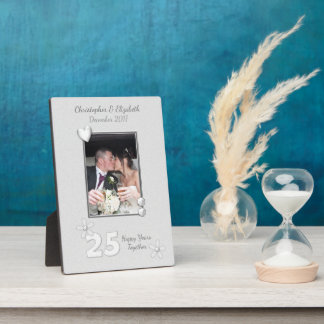 Personalized Silver Wedding Anniversary Photo Plaque