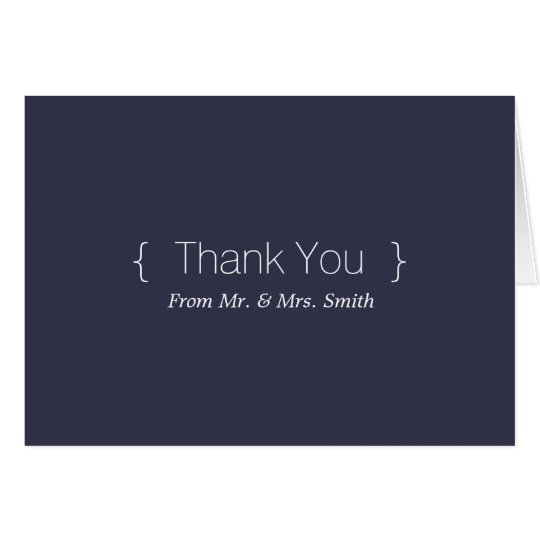 Personalized simple Elegant Thank You Card