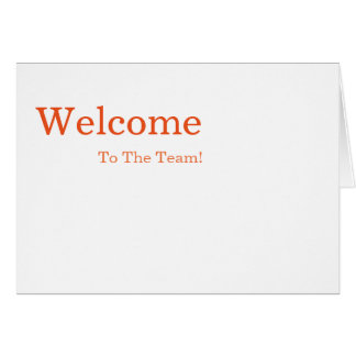 Personalized simple Elegant Welcome Card
