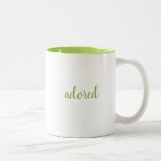 Personalized Single Word Two-Tone Coffee Mug