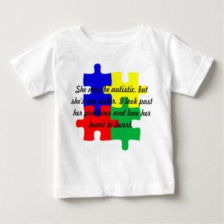 "Personalized ""Sister"" Autism T-Shirt Infants'"