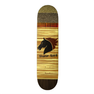 Personalized skateboard with wood sample