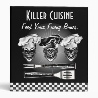 Personalized Skull Chef Binder