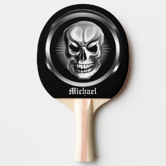 Personalized Skull Ping Pong Paddle
