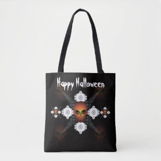 Personalized Skull Trick Or Treat Tote Bag