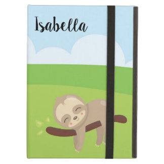 Personalized Sleepy Sloth Ipad Case
