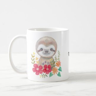 Personalized Sloth Mug Custom Name Baby Sloth mug