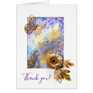 Personalized Small Greeting Card with Butterfly