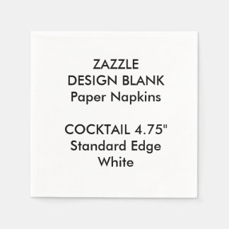 Personalized Small WHITE Cocktail Paper Napkins