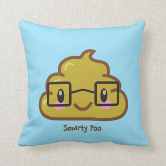 Personalized Smarty Poo Throw Pillows