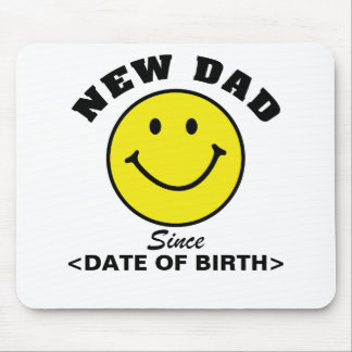 Personalized Smiley Face New Dad Gift Mouse Pad