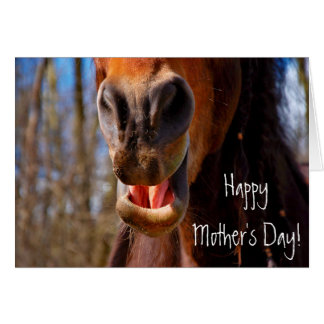 Personalized Smiling Horse Mother's Day Card