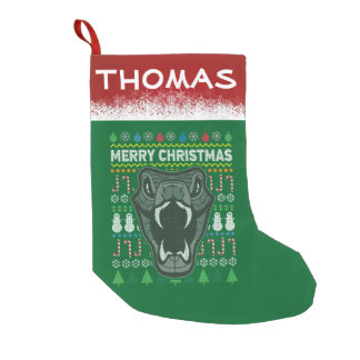 Personalized Snake Wildlife Christmas Sweater Small Christmas Stocking