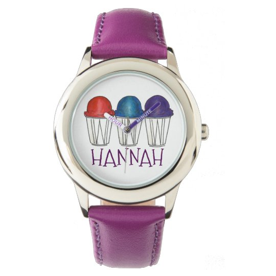 Personalized Snocone Italian Shaved Ice Watch