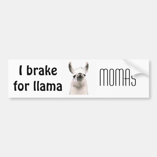 Personalized Snooty Snobby Llama Bumper Sticker