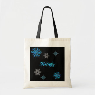 personalized snowflake bag. tote bag