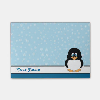Personalized Snowflake Penguin Post-it® Notes
