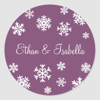 Personalized Snowflakes Envelope Sticker Seal