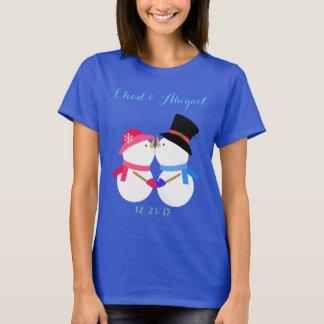 Personalized Snowman Couple Shirt