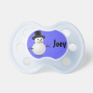 Personalized Snowman Pacifier