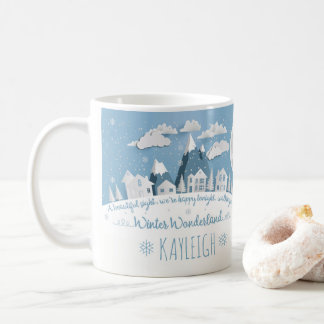 Personalized Snowy Winter Wonderland Holiday Mug