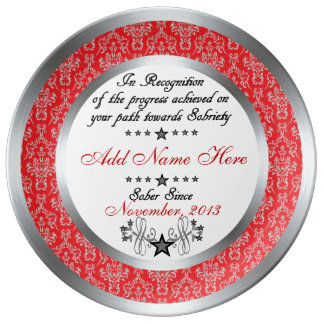 Personalized Sobriety Recognition & Award Plate