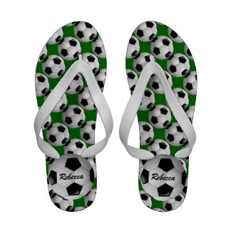 Personalized Soccer ball Flip Flops