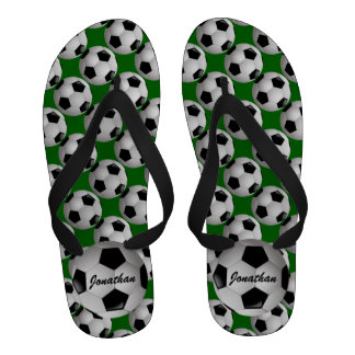 Personalized Soccer ball Flip-Flops