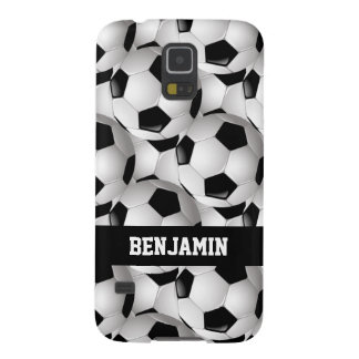 Personalized Soccer Ball Pattern Black White Case For Galaxy S5