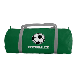 Personalized soccer ball sports duffle bag